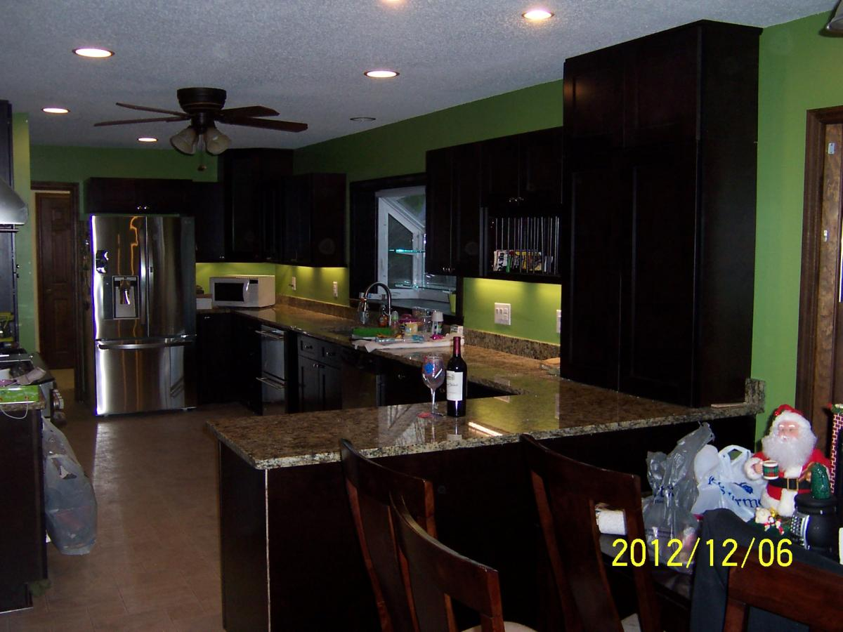 ordinary How Long To Remodel A Kitchen #8: ... remodel) - Finished kitchen photos are below. All new cabinets,  flooring, granite tops, under cabinet lighting, recessed lighting, repaired  ceilings and ...